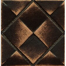 "Ambiance Insert Matrix City 2"" x 2"" Resin Tile in Venetian Bronze"