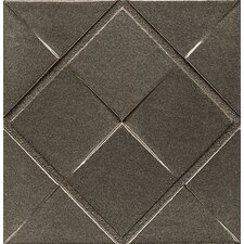 "Ambiance Insert Matrix City 4"" x 4"" Resin Tile in Brushed Nickel"