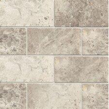 """Honed 3"""" x 6"""" Marble Mosaic Tile in Sebastian Gray"""
