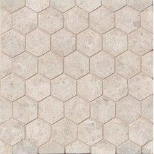 Hexagon Marble Mosaic Tile in Sebastian Gray