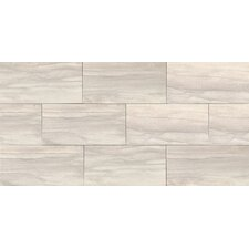 "Athena 12"" x 24"" Porcelain Field Tile in Pearl"