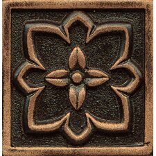 "Ambiance Insert Romanesque 2"" x 2"" Resin Tile in Venetian Bronze"
