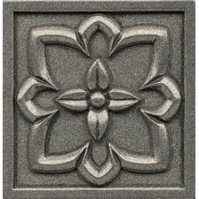 "Ambiance Insert Romanesque 4"" x 4"" Resin Tile in Pewter"