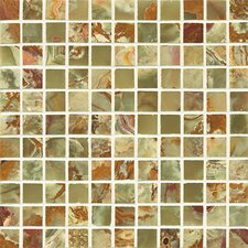 """Onyx 1"""" x 1"""" Marble Mosaic Tile in Palisades Green"""