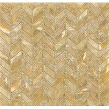 "Onyx 12"" x 12"" Chevron Marble Mosaic Tile in Sweet Honey"
