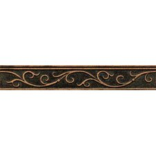 "Ambiance Gothic Leaf Liner 1-3/4"" x 12"" Resin Tile in Venetian Bronze"
