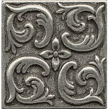 "Ambiance Insert Wave 2"" x 2"" Resin Tile in Pewter"