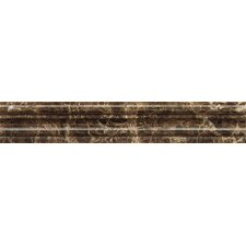 """Chair Rail 2"""" x 12"""" Marble Polished Tile in Emperador Dark"""
