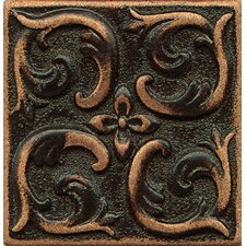 "Ambiance Insert Wave 2"" x 2"" Resin Tile in Venetian Bronze"