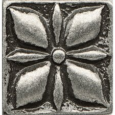 """Ambiance Insert Jasmine 1"""" x 1"""" Resin Tile in Pewter"""