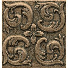 "Ambiance Insert Wave 4"" x 4"" Resin Tile in Bronze"