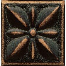 "Ambiance Insert Jasmine 2"" x 2"" Resin Tile in Venetian Bronze"