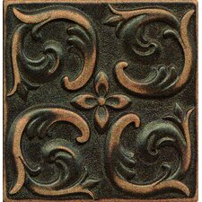 "Ambiance Insert Wave 4"" x 4"" Resin Tile in Venetian Bronze"
