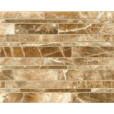 Onyx Random Sized Marble Mosaic Tile in Caramel Swirl
