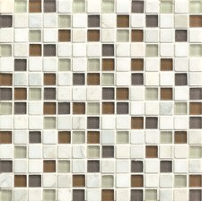 """Interlude 0.75"""" x 0.75"""" Stone and Glass MosaicTile in Encore"""