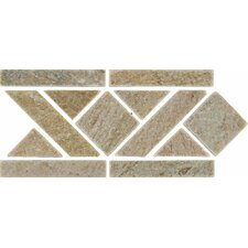 """12"""" x 6"""" Stone Mosaic Liner Tile in Amber Gold"""