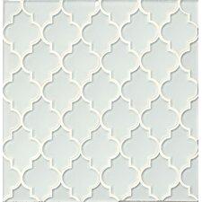 Mallorca Glass Mosaic Tile in White Linen