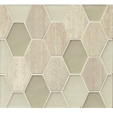 Panache Glass and Stone Mosaic Tile in Chiffon