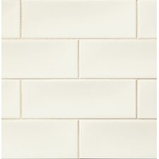 "Grace 4"" x 12"" Ceramic Subway Tile in Bianco"