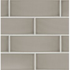 "Grace 4"" x 12"" Ceramic Subway Tile in Grigio"