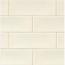 "Grace 4"" x 12"" Ceramic Subway Tile in Panna"