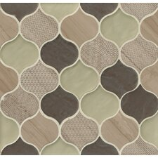 Panache Glass and Stone Mosaic Tile in Mohair