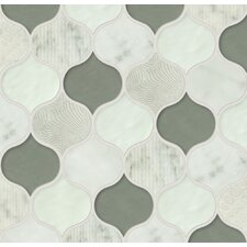 Panache Glass and Stone Mosaic Tile in Sequins