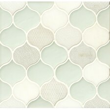 """Panache 10"""" x 10.5"""" Glass and Stone Mosaic Tile in Silk"""