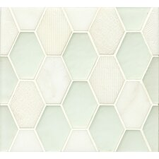 Panache Glass and Stone Mosaic Tile in Silk