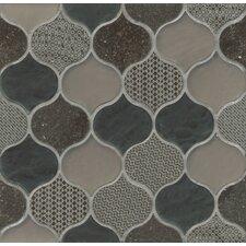 Panache Glass and Stone Mosaic Tile in Velvet