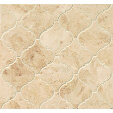 "Marble 12.25"" x 13.25"" Mosaic Tile in Cappuccino"