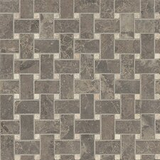 Honed Marble Mosaic Tile in Silica Brown and Sebastian Gray