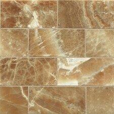 "Onyx 3"" x 6"" Marble Mosaic Tile in Caramel Swirl"
