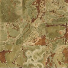 """Onyx 12"""" x 12"""" Marble Field Tile in Palisades Green"""