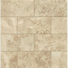 "Honed 3"" x 6"" Marble Mosaic Tile in Cappuccino"