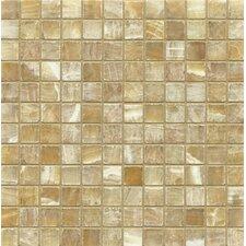 "Onyx 1"" x 1"" Marble Mosaic Tile in Sweet Honey"