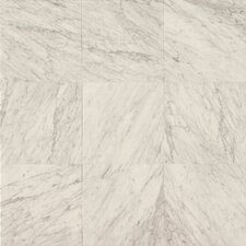 "18"" x 18"" Marble Field Tile in White Carrara"