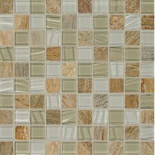 """Elume 1.17"""" x 1.17"""" Natural Stone Mosaic Tile in Champagne"""