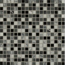 "Eclipse 0.63"" x 0.63"" Glass Mosaic Tile in Beige"