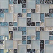 Ice Crackle Random Sized Glass Mosaic Tile in Multi