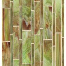 Retrospect Random Sized Glass Mosaic Tile in Sublime