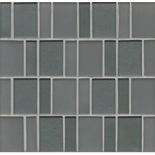 Manhattan Random Sized Glass Mosaic Tile in Gray
