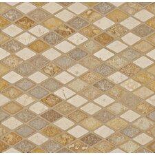 "1"" x 1.75"" Travertine Mosaic Tile in Beige"