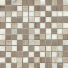 "Maison 1"" x 1"" Marble Mosaic Tile in Gray"