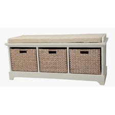 Newport Wooden Bedroom Storage Bench with 3 Baskets