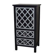 Trellis Drawer and 1 Door Cabinet Chest