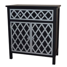 Trellis Cabinet 1 Drawer and 2 Door Chest