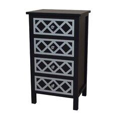 Trellis Cabinet 4 Drawer Chest
