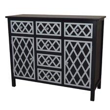 Trellis Cabinet 6 Drawer and 2 Door Chest