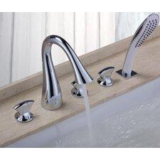 Triple Handle Deck Mount Bath Tub Faucet